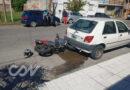 Un motociclista resultó herido en un choque en Microcentro