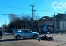 Siniestro vial en avenida Sarmiento: un motociclista herido