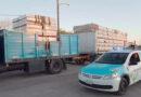 Un camión que salió de Olavarría desparramó parte de la carga de ladrillos en la Ruta 226