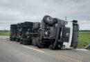 Un camión volcó sobre la Ruta Nacional 3